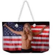 Patriotic Sexy Woman  Weekender Tote Bag