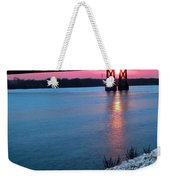 Patriotic Sunset Thru Bridge Weekender Tote Bag