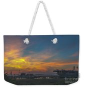 Patriots Point Sunset Weekender Tote Bag