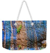 Pattern On Wet Canyon Wall From River Walk In Zion Canyon In Zion National Park-utah  Weekender Tote Bag