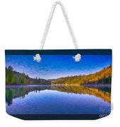 Patterson Lake Fall Morning Abstract Landscape Painting Weekender Tote Bag