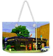 Patty's Pub Guinness On The Glebe Restaurant Bar Bank And Ossington Paintings Of Ottawa Art Cspandau Weekender Tote Bag