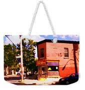 Paul Patate Pointe St Charles South West Montreal Autumn Street Scene Carole Spandau Weekender Tote Bag