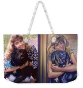 Paula Commissioned Portrait Side By Side Weekender Tote Bag