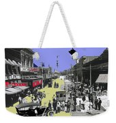 Paving East Congress In Tucson 1913 The Year Villa Visited Tucson Weekender Tote Bag