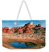 Paw Hole Reflections Weekender Tote Bag by Mike  Dawson