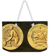 Pawnee Nation Tribe Code Talkers Bronze Medal Art Weekender Tote Bag