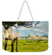Payson Country Temple Oil Paint Texture Weekender Tote Bag