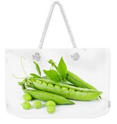 Pea Pods And Green Peas Weekender Tote Bag