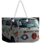 Peace And Love Van Weekender Tote Bag