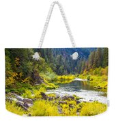 Peace And Tranquility In The Heart Of Feather River, Quincy California Weekender Tote Bag