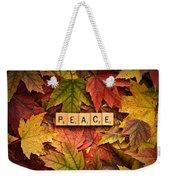 Peace-autumn Weekender Tote Bag