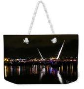 The Peace Bridge At Night Weekender Tote Bag