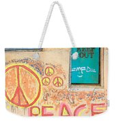 Hippie Graffiti - Peace But Keep Out Weekender Tote Bag