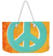 Peace Weekender Tote Bag by Linda Woods
