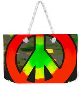 Peace Love And Stumpy's Bbq Weekender Tote Bag