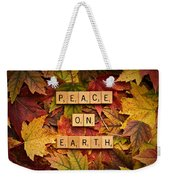 Peace On Earth-autumn Weekender Tote Bag