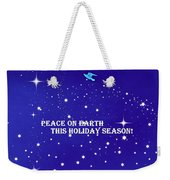 Peace On Earth Card Weekender Tote Bag