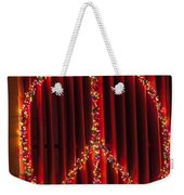 Peace Sign Christmas Lights Weekender Tote Bag