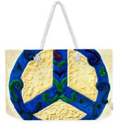 Peace Sign Weekender Tote Bag by Cynthia Amaral