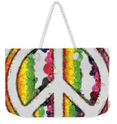 Peace Sign Fruits And Vegetables Weekender Tote Bag