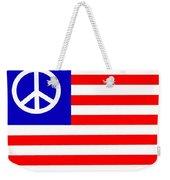 Peace Usa Flag Weekender Tote Bag