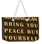 Peace Within Weekender Tote Bag