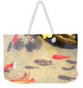 Peaceful Day In The Pond Weekender Tote Bag
