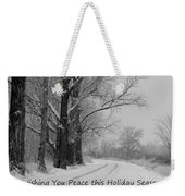Peaceful Holiday Card Weekender Tote Bag