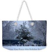 Peaceful Holiday Card - Winter Landscape Weekender Tote Bag