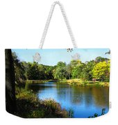 Peaceful Lake Weekender Tote Bag by Susan Savad