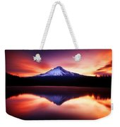 Peaceful Morning On The Lake Weekender Tote Bag by Darren  White