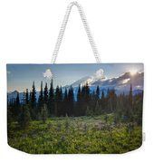 Peaceful Mountain Flowers Weekender Tote Bag