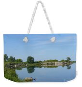 Peaceful Water Reflection At Tommy Thompson Park Weekender Tote Bag
