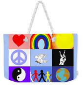 peaceloveunity Mosaic Weekender Tote Bag
