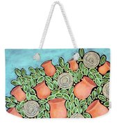 Peach Blossoms And Licorice Swirls Weekender Tote Bag