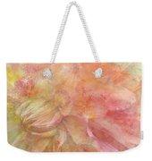 Peach Dahlia Weekender Tote Bag
