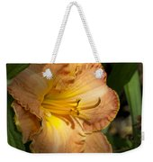Peach Daylily Delight Weekender Tote Bag