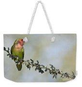 Peach Faced Love Bird Weekender Tote Bag
