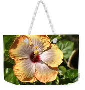 Peach Flower Weekender Tote Bag