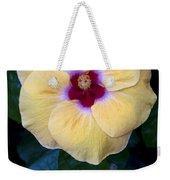 Peach Hibiscus Weekender Tote Bag
