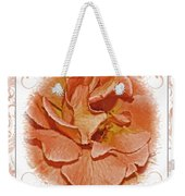 Peach Rose Sqrare Digital Paint Weekender Tote Bag