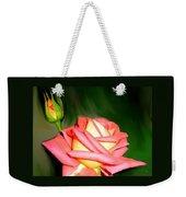 Peach Rose Watercolor Weekender Tote Bag