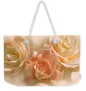 Peach Roses In The Mist Weekender Tote Bag by Jennie Marie Schell
