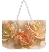 Peach Roses In The Mist Weekender Tote Bag
