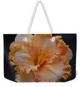 Peach Ruffled Lily Weekender Tote Bag