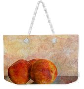 Peach Trio  Weekender Tote Bag