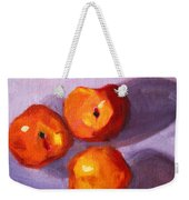 Peach Trio Weekender Tote Bag