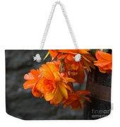 Peachy Begonias Weekender Tote Bag