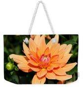 Peachy Petals Weekender Tote Bag